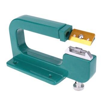 Aluminiowy skórzany Splitter narzędzie urządzenie do parowania skóra Skiver obieraczka skóra narzędzia tnące maszyna do szycia DIY galanteria skórzana