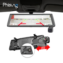 Phisung E05 10 «ips 4G Автомобильные видеорегистраторы Android зеркало с камера заднего вида ADAS Bluetooth WI-FI 1080 p Камара automovil зеркало навигатор
