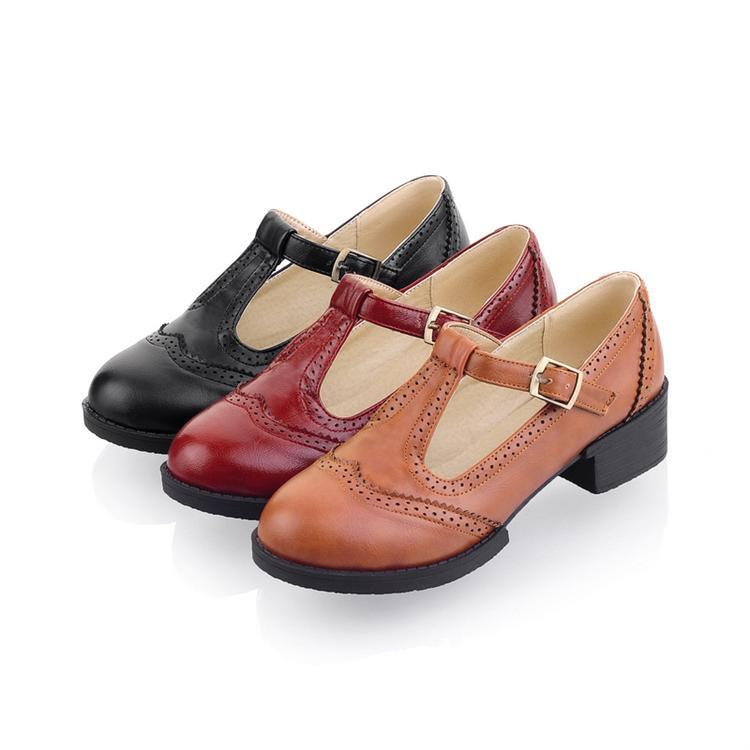 New 2014 Autumn Flat T strap Oxford Shoes For Women ...