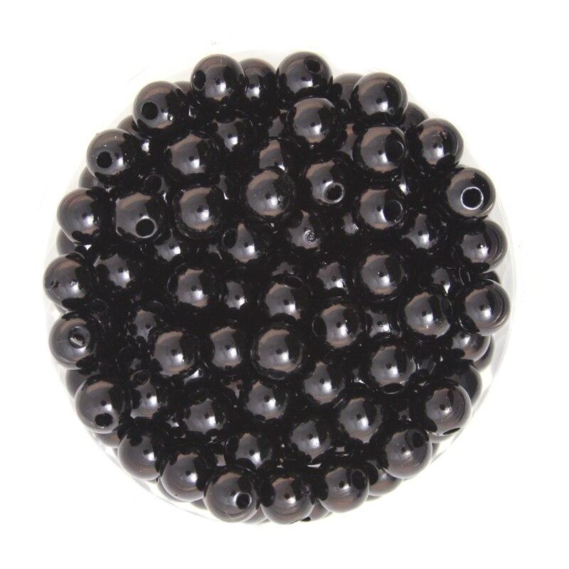 Черный Цвет Круглый около 260 шт./лот 8 мм диаметр. Имитация Пластик жемчуг Бусины оптовая продажа для вас DIY cn-bsg01-03bk