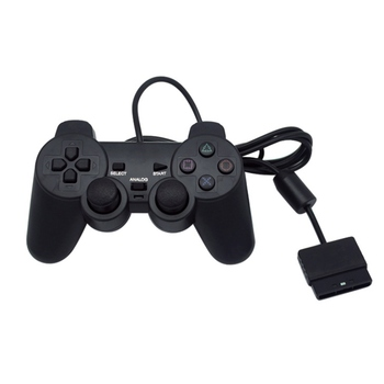 Black Wired Controller 1.8M Double Shock Remote joystick Gamepad Joypad for PlayStation 2
