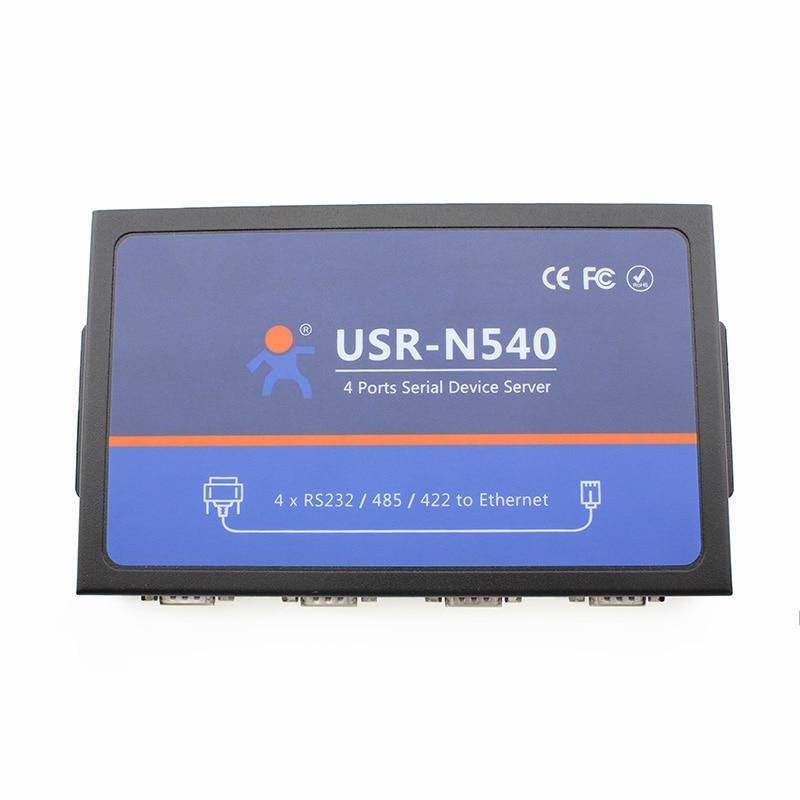 Q038 USR-N540 Four Serial Port RS232 to Ethernet RS485 to RJ45 RS422 to TCP IP Converter 1 port rs232 rs485 to 4 port rs485 serial port hub