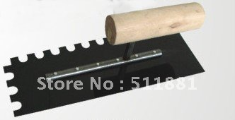 NCCTEC Notched Trowel 10mm X 10mm Teeth Wooden Handled