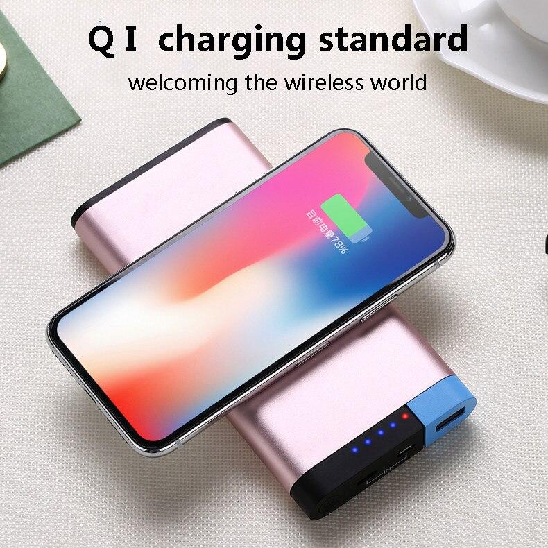 Slim 10000 Mah Puissance Banque ROCK Portable Ultra-mince Alliage Powerbank Batterie Puissance Banque 20000 Mah Pour Xiaomi Redmi