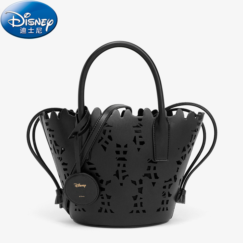 Disney Hollow Out Women Bag Fashion PU Leather Women Leather Handbag Casual Women Shoulder Bag Fashion Female High Quality AA101 hollow out string design u convex pouch pu leather boxer brief