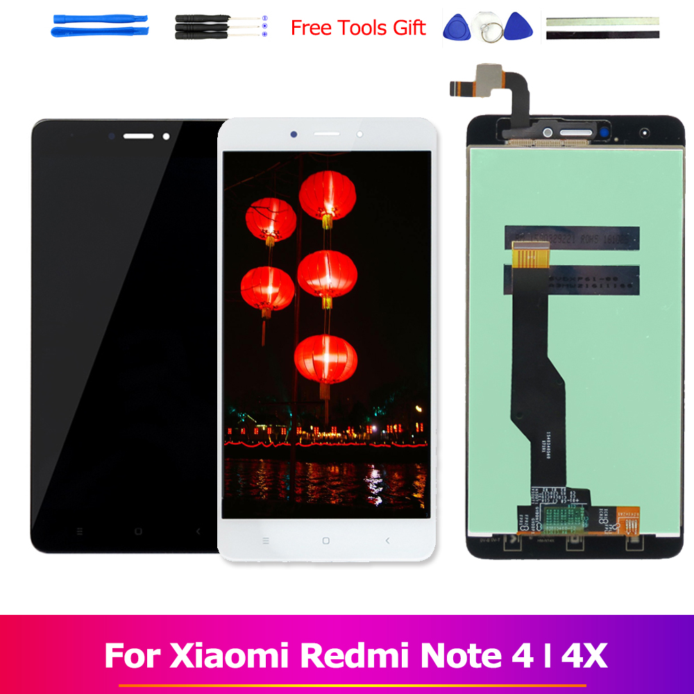 Redmi Nota 4 LCD Assembly Display per Xiaomi Redmi Nota 4 MTK Helio X20 Touch Screen Redmi Nota 4 Globale nota 4X Snapdragon 625