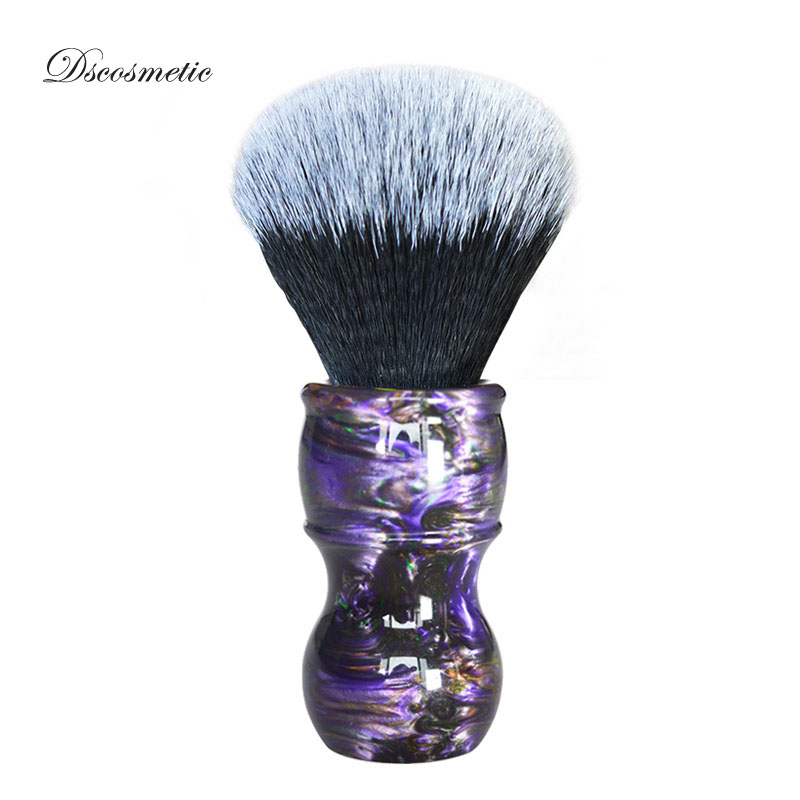 Entusiasta Dscosmetic 26mm Galaxy Manico Colorato Tuxedo Sintetica Dei Capelli Nodo Uomo Shave Brush