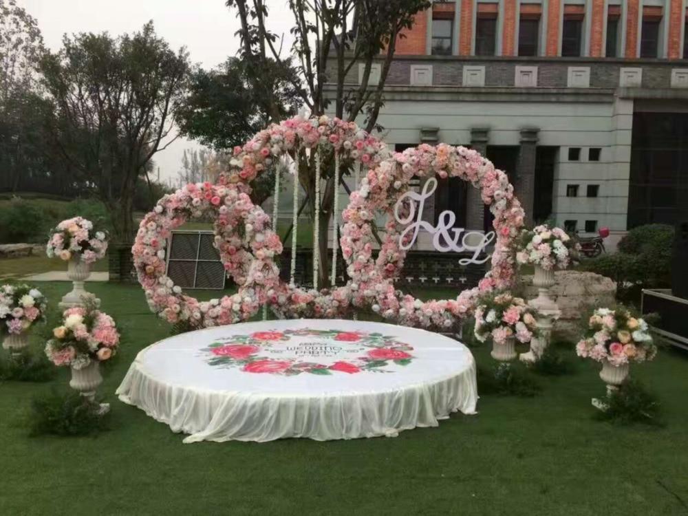 Bridal Large Iron Round Ring Arches Frame Background ...