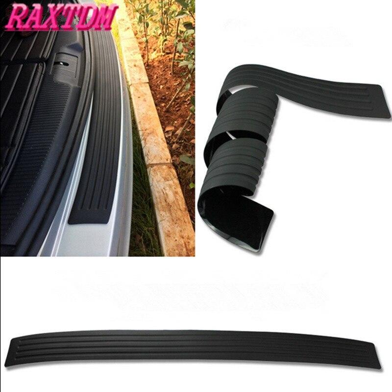 Black Rubber Rear Guard Bumper Protector Trim cover Accessories For Ford Focus 2 3 4 Fiesta Mondeo Ecosport Ka