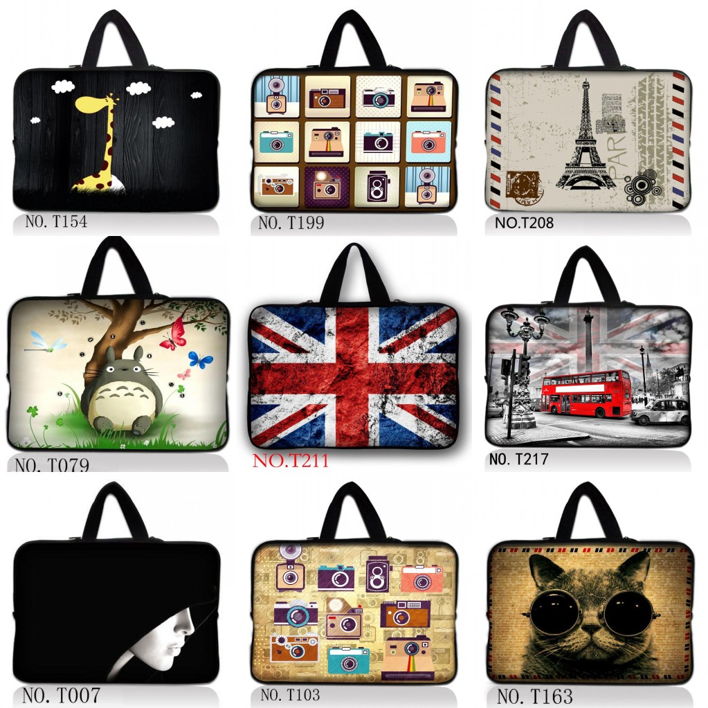 Many Designs Laptop Bag 13.3 14.4 15.6 Portable Soft Sleeve Handlebag Laptop Bags Case for women MacBook Pro Air Notebook