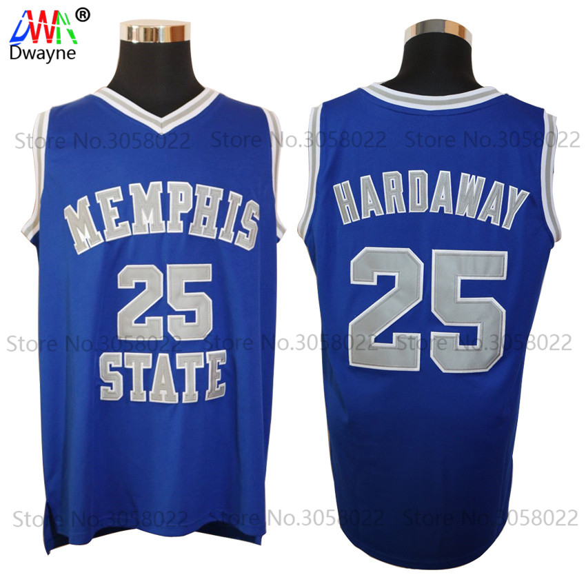цена на 1991-92 Mens Dwayne Penny Anfernee Hardaway Jersey Cheap Throwback Basketball Jersey #25 Memphis State College Vintage Jerseys