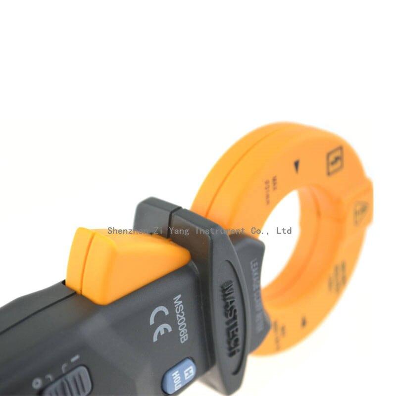 Détecteur de courant alternatif de mètre de bride de fuite à ca de sensibilité élevée de MASTECH MS2006B, résolution de 0.01mA à 60A, 1uA