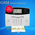 Бесплатная Доставка Горячей Продажи GSM Сигнализация С ЖК-Дисплеем и голосовые Подсказки Может Соединиться С 100 Беспроводной Датчик Только Для DIY