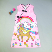Baby Girl Dress Unicorn dress Sleeveless Clothing Children Costume Princess Party midi Dress kid Clothes 68261