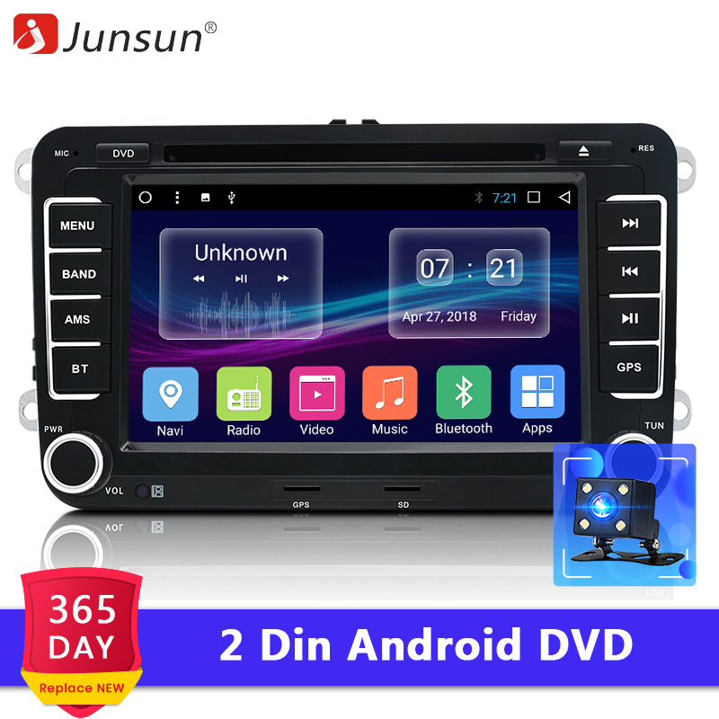 Junsun 7 2 din Android Car DVD radio player for VW Golf Passat POLO Tiguan Skoda