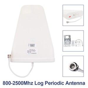 Image 4 - 트라이 밴드 2g 3g 4g 신호 부스터 900 1800 2100 MHz GSM WCDMA UMTS LTE 리피터 Triband 900/1800/2100 앰프 + 로그/패널 안테나