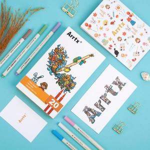 Image 5 - Arrtx AMP 1500 Metallic Color Pens Fine Point & Soft Brush 20 Planner Pens Suitable for DIY Photo Album/Rock Painting