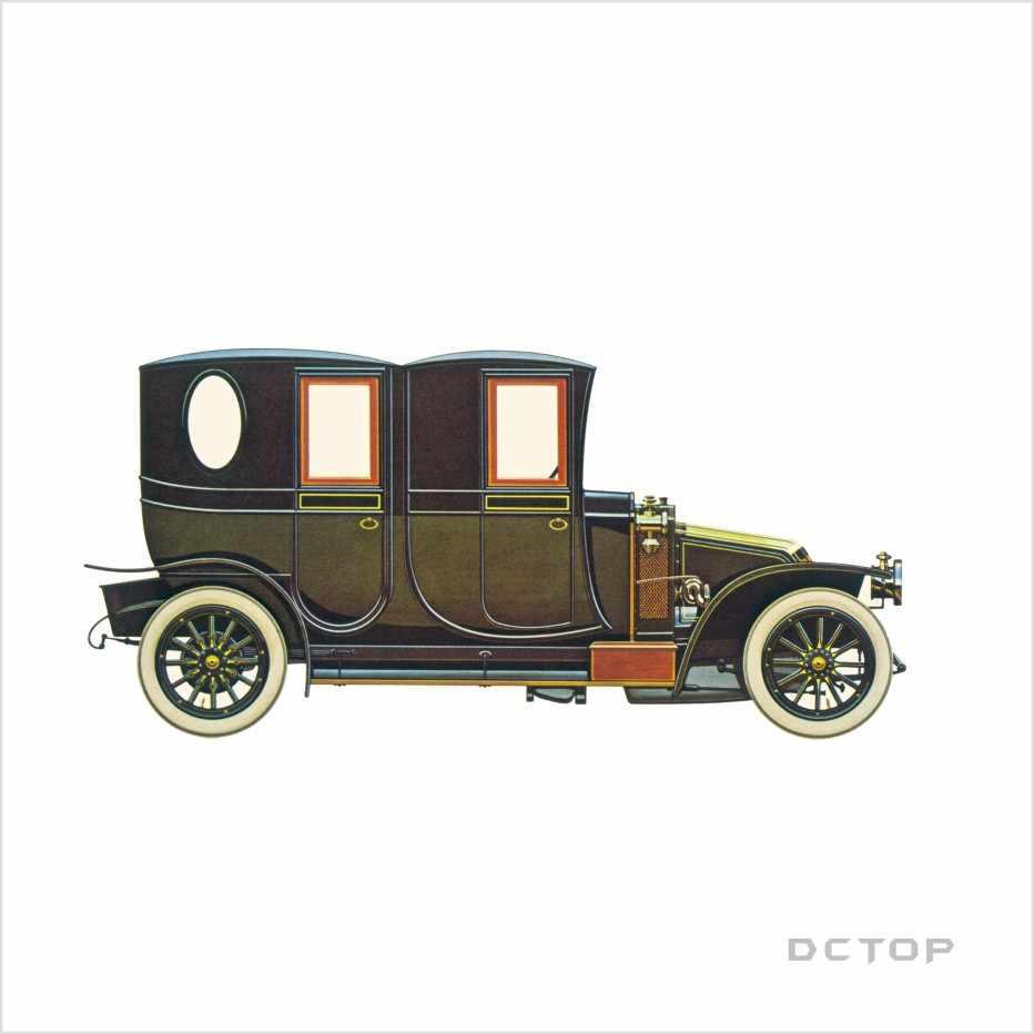Retro samochody kolor naklejki ścienne wystrój domu salon pokój Cartoon samochody naklejki ścienne w stylu Vintage plakat tapety Decor dekoracja domu