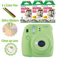 Зеленый лайм Fujifilm Instax Mini 9 Фотоаппарат моментальной печати + 50 фотографии Fuji момент мини 8 белая рамка пленка + бесплатная 20 штук наклейки и ру