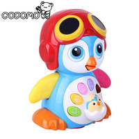 Electronic Pets Baby Toys EQ Flapping Penguin Infant Brinquedos Bebe Electrical Universal Toy For Children Kids