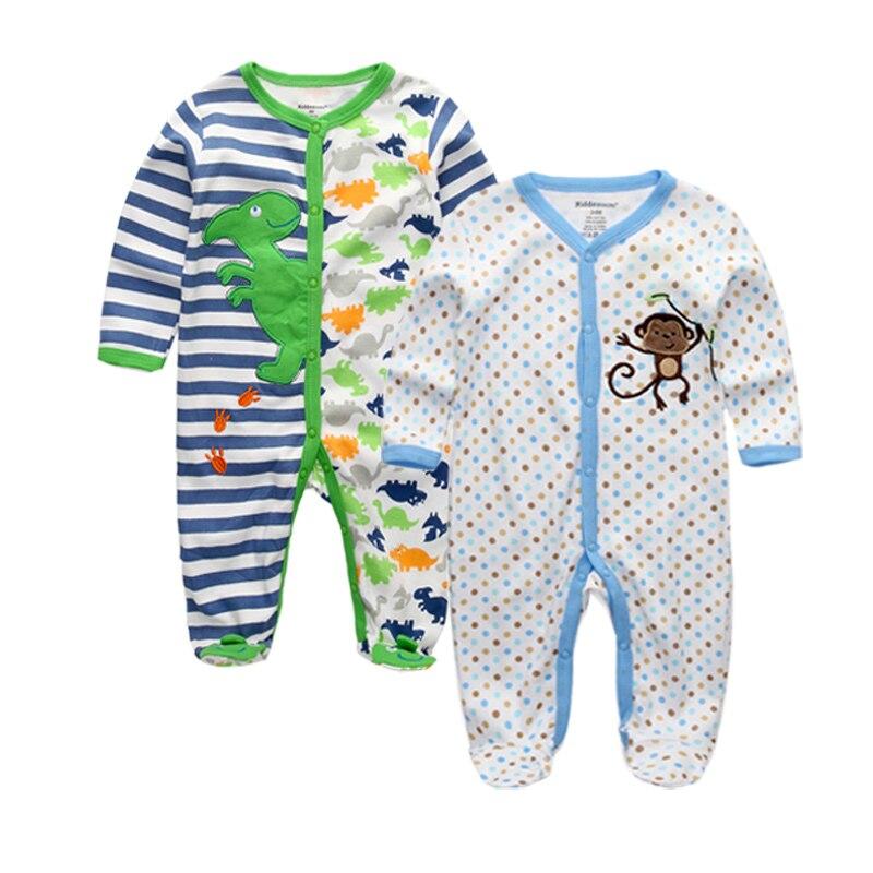 2 Teile/los Baby Kleidung Baumwolle Jungen Mädchen Strampler Cartoon Lange ärmeln Baby Mädchen Strampler Neugeborenen Jungen Kleidung Roupa Infantile