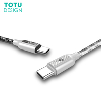 TOTU USB Type C Cable For Samsung S8 Plus Fast Charging Data Sync Type C Charger
