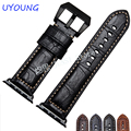 High Quality Genuine Leather Watchband 24mm Black Brown Blue Light brown For Apple Iwatch Band 42mm