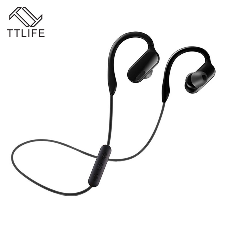 TTLIFE Wireless Earphone Bluetooth 4.1 Stereo Music Sport Headphone AptX Ear Hook Earbud with Mic for Phones xiaomi