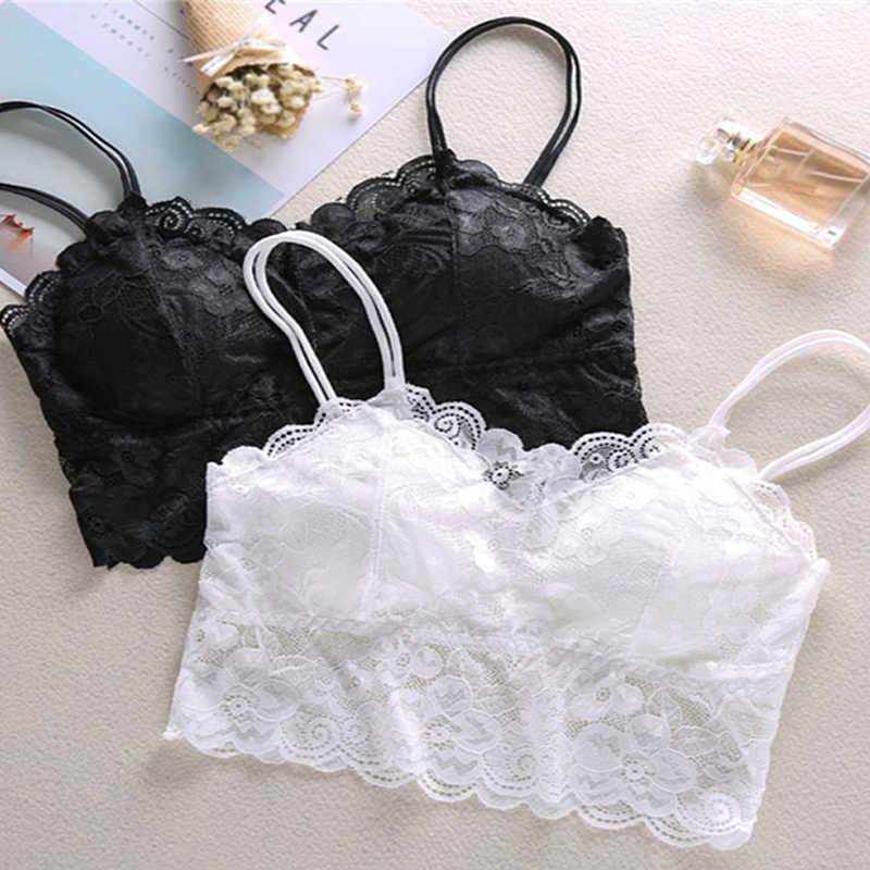 846ca55366 ... Hot sexy women bra Summer 2018 fashion Sheer Lace floral Bralette Bras  Girls Strappy lingerie bra ...