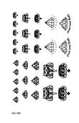 Rocooart HC151-175 Waterproof Fake Tattoo Styling Tools Stickers Snake Pistol Black Feather Temporary Tattoos Body Art Tattoo 50