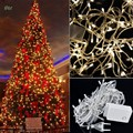 New 110V US Plug 100 LED Christmas Lights 10M Xmas Twinkle Warm white Fairy String Light indoor Decorative Luces De Navidad 12S