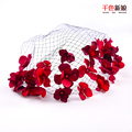 Colour bride red the bride hair accessory hair accessory handmade hair accessory of marriage gauze accessories wedding