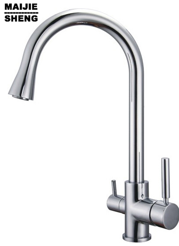 2017Faucet Chrome Finished Water Filter Ro 3 Way Tap Faucets New Real Ceramic None Kitchen Mixer Torneiras Para Pia Cozinha 1 4   chrome drinking ro water filter