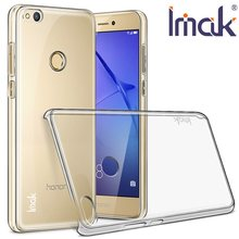 For Huawei Honor 8 /Honor 8 Lite Case IMAK Clear Crystal PC Plastic Hard Back Cover Phone Case For Huawei P8 Lite 2017(China)