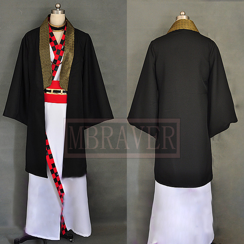 Hakuouki Kazama Chikage Cosplay Anime Costume Custom made Any Size