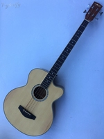 High Quality 4 String Acoustic Electric Bass Guitar With Tuner With Eq