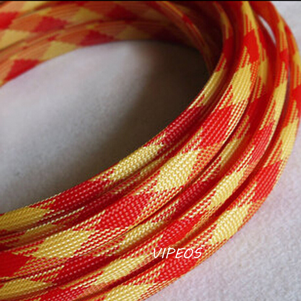 popular wire harness protection buy cheap wire harness protection 3meter braided cable 12 20mm wiring harness loom protection sleeving red yellow for diy