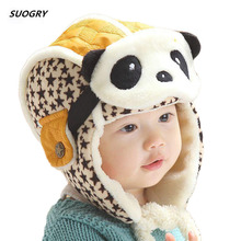SUOGRY Lovely Panda Hats Baby Caps Kids Hat Bomber Winter Cap Children Masks Warm All For Children Clothing And Accessories