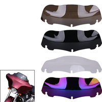 5 Colors 7 Black Motorcycle Wave Windshield Windscreen For Harley Touring Electra Street Glide FLHX FLHT