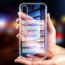 Phone Case For iPhone 11 Pro XS Max XR X 7 8 6 6s Plus Transparent Airbag Soft Silicone TPU Cover Cases For iPhone 11 Pro XS Max phone cases for iphone 5 6 7 x xs max xr 11 pro max case soft transparent silicone clear back cover for iphone 6s 7 8 plus case