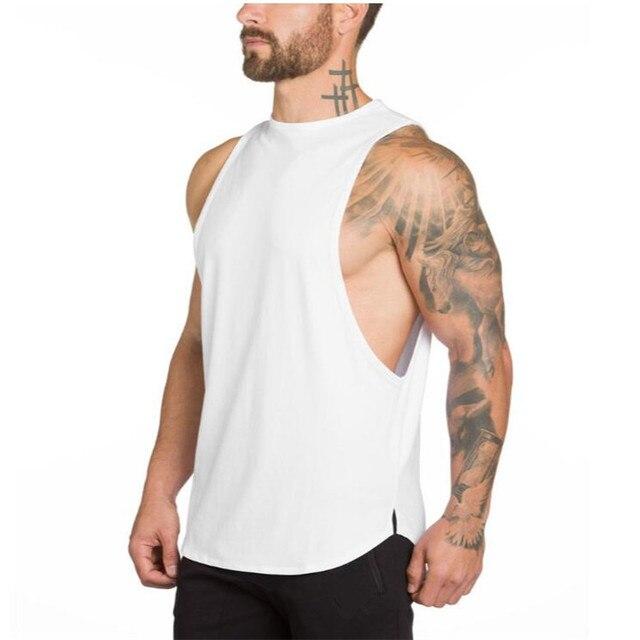 Brand Gyms Stringer Clothing Bodybuilding Tank Top Men Fitness Singlet Sleeveless Shirt Solid Cotton Muscle Vest Undershirt 2