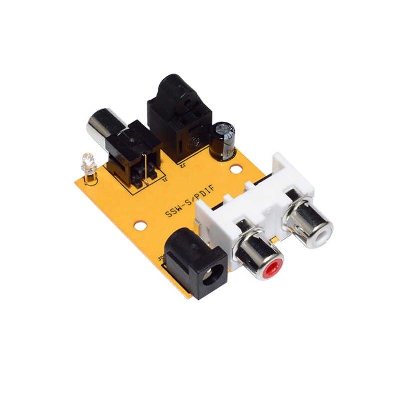 DIY cyfrowy na analogowy konwerter Audio Adapter optyczny daptador koncentryczny/optyczny Toslink SPDIF na analogowy L/R RCA Audio TV dekoder