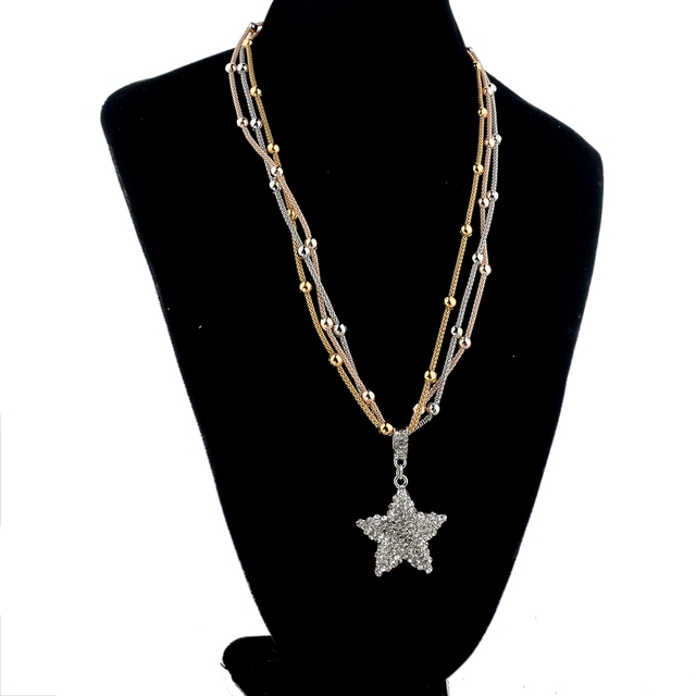 женское длинное ожерелье цепочка chicvie золотистого цвета с фотография