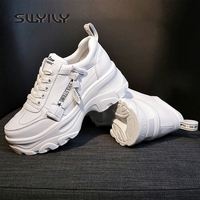 SWYIVY Fashion Sneakers For Women Shoes Causal Spring Female Plaform Sneakers White Shoe Women Ulaazng Chunky Sneaker 2019 New