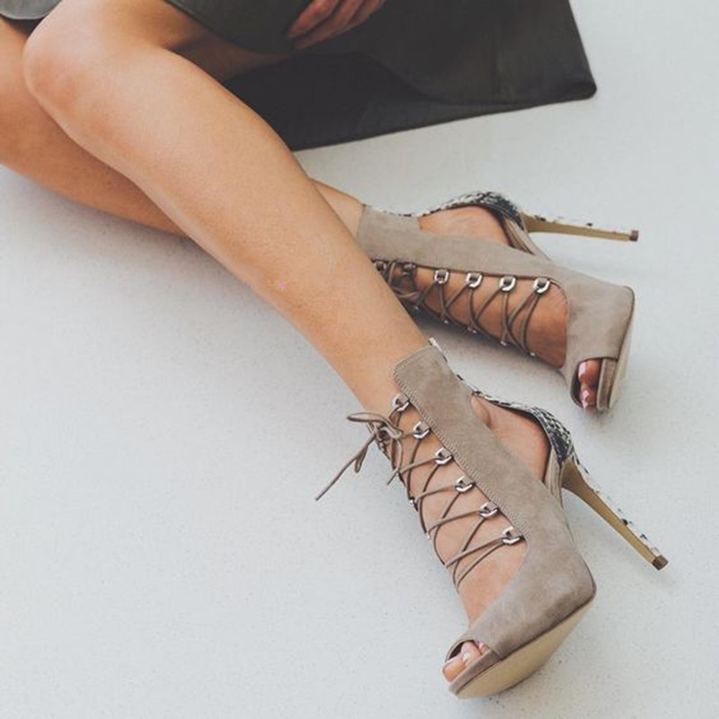 Cross Straps Mixed Color Summer Sandals Sexy Ankle Boots Open Toe Thin High Heels Sandals Woman Lace-up Hollow Sandalias Mujer new 2016 sexy gladiator ankle straps high heels fashion brand women sandal summer mixed colors open toe sandalias big size 34 43