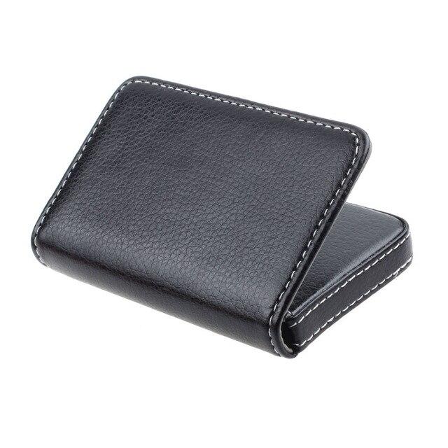 Titular do Cartão de Negócio da moda dos homens Requintado Atraente Magnético Caixa Caso Do Cartão Mini Carteira Masculina Titular do Cartão de Crédito Bolsas # zer