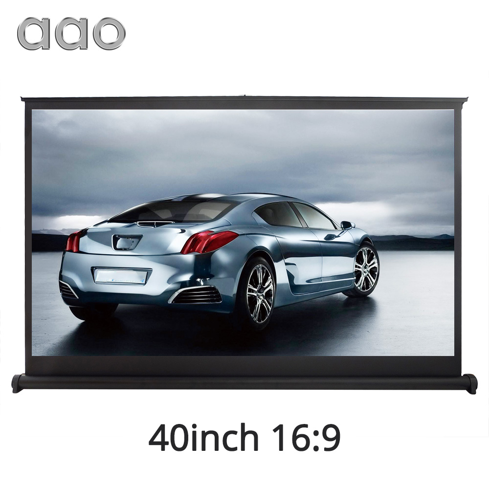 все цены на AAO 40 inch 16:9 Portable Table Projection Screen Home Cinema Meeting 3D Movie LED DLP Flexible Beamer Projector Screen 40inch
