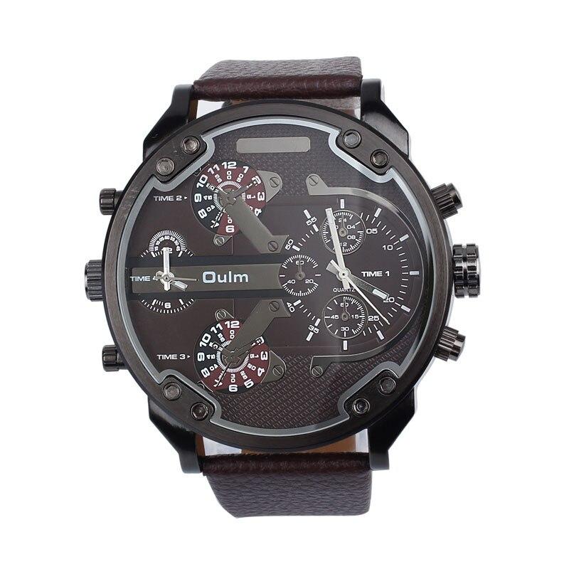 New 2016 Fashion Quartz Watch font b Luxury b font Military Army Dual Time Quartz Large