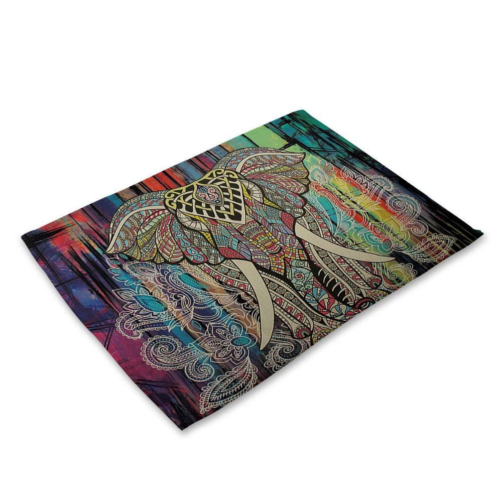 Mandala Elephant Printed Table Napkins For Wedding Party India Hippie Table  Napkin Cloth Western Dinner Mat Home Textile In Table Napkins From Home U0026  Garden ...