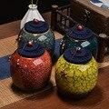 PINNY Высокое качество маленькая печь керамический чай Caddy китайский стиль чайная канистра Ретро герметичная банка ручной работы аксессуары ...